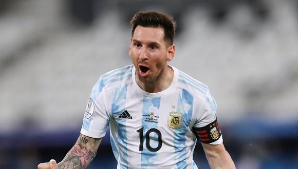 Lionel Messi dio la asistencia para el triunfo de Argentina sobre Uruguay en la Copa América. (Reuters)