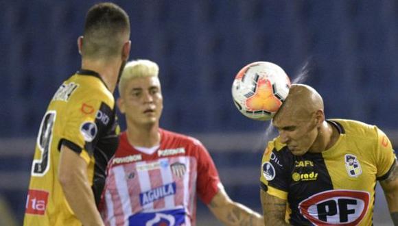 Coquimbo Unido venció 2-1 a Junior por la ida de cuartos de final de Copa Sudamericana 2020. (Twitter)