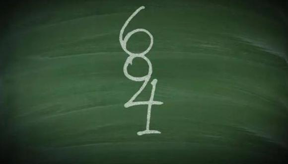 Acertijo viral: ¿eres capaz de hallar a todos los número que aparecen en la pizarra? (Foto: REDES)