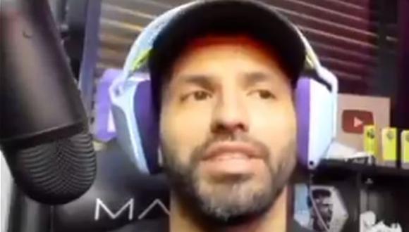 Sergio Agüero ingresó por Phil Foden a poco del final del City-PSG. (Captura: Twitch)