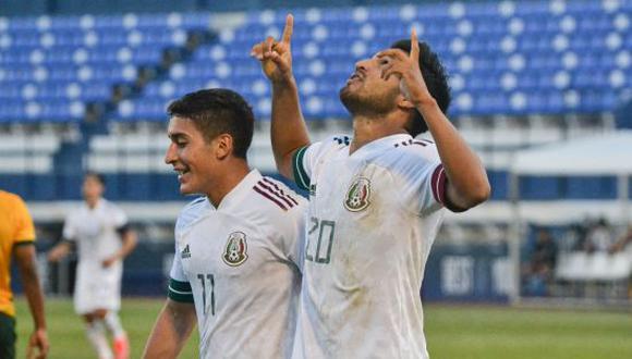 México venció por 3-2 a Australia en un amistoso Sub-23 con mira a Tokio 2020. (Foto: Twitter / Selección Nacional de México)