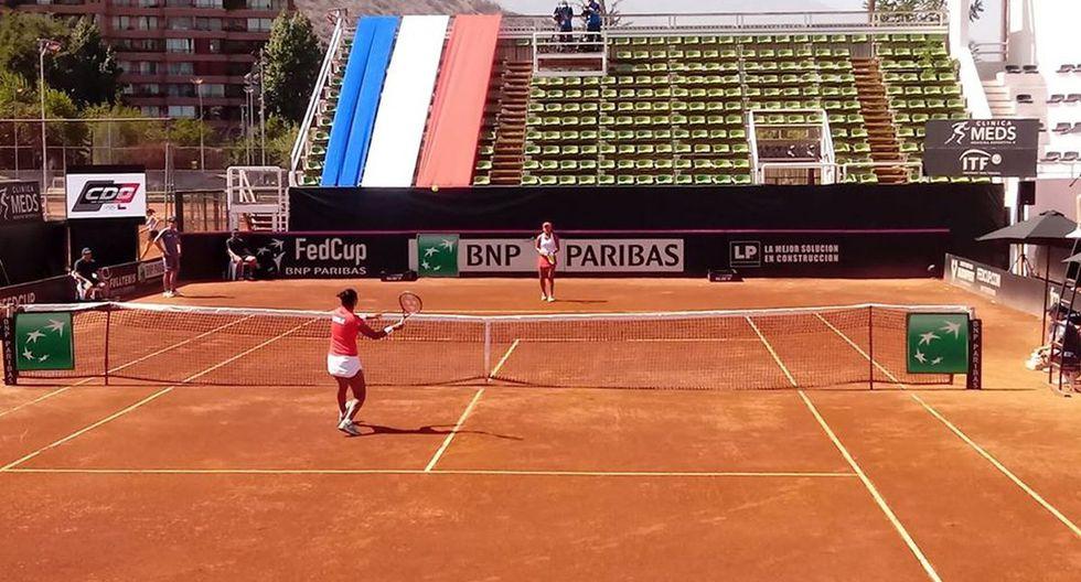 Partido entre Daniela Seguel (de Chile) contra Romina Ccuno (de Perú). (Foto:  Séptimo Game/ ATPerú)