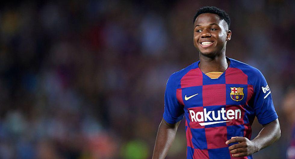 Ansu Fati fue ascendido al primer equipo del Barcelona esta temporada. (Getty)