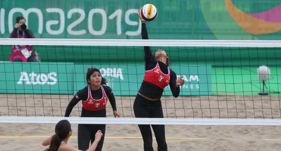 Perú vs. Paraguay se miden en el vóley playa femenino de Lima 2019. (Foto: Violeta Ayasta - GEC)