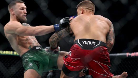 """Conor McGregor frustrado por la victoria de Poirier: """"Fue ilegítima, el segundo round lo habría demostrado"""". (Getty Images)"""