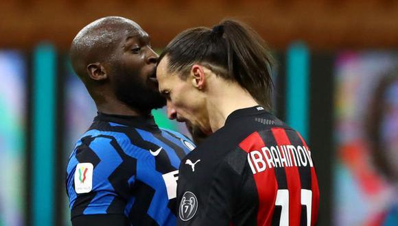 Romelu Lukaku y Zlatan Ibrahimovic fueron protagonistas de los cuartos de final de Copa Italia. (Foto: Agencias)