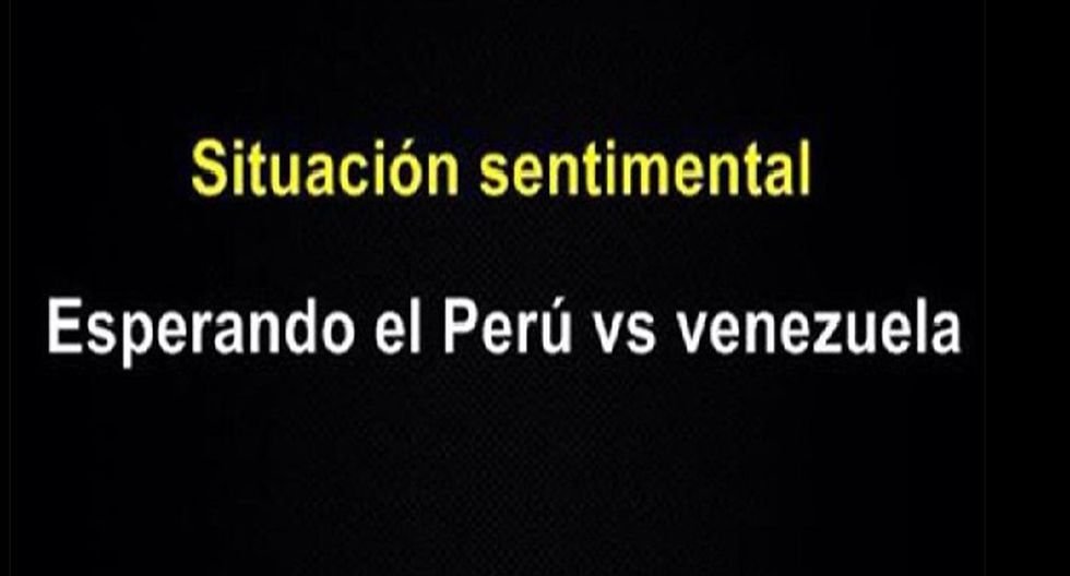 Perú vs. Venezuela:;  los mejores memes previo al partido ante Venezuela (Facebook)