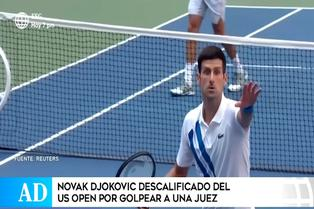 Novak Djokovic descalificado del US Open por golpear a jueza