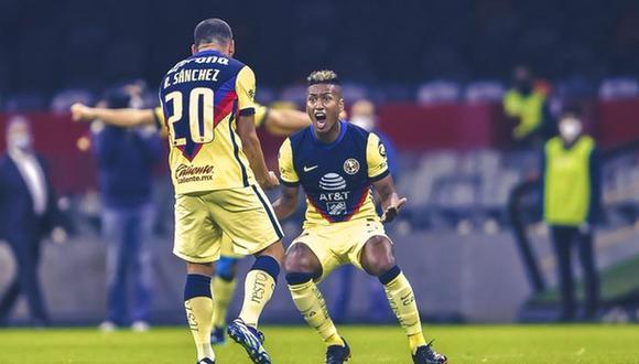 Pedro Aquino marcó su primer gol oficial como 'Águila'. (Foto: Club América)