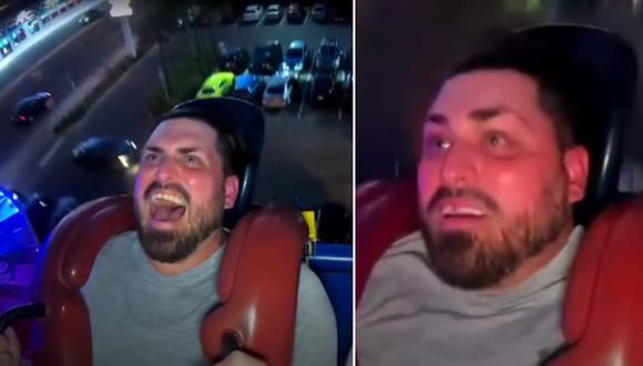 Video viral en Internet. Un hombre se sube a un juego mecánico y pierde un diente postizo. (Foto: @jeremycooksr / TikTok)