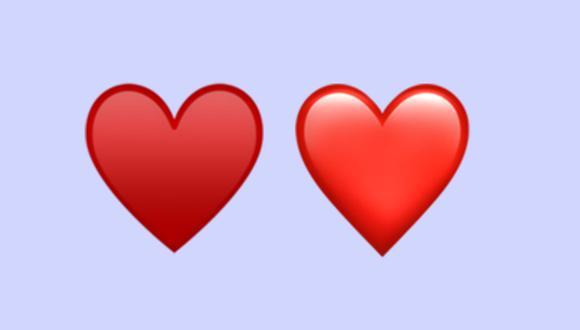¿Sabes por qué hay dos emojis del corazón rojo en WhatsApp? ¿En qué se diferencian? (Foto: Emojipedia)