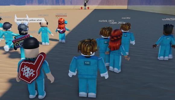"""Roblox: """"El juego del calamar"""" se convierte en uno de los minijuegos más populares. (Foto: captura)"""