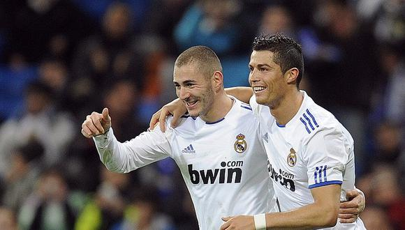 Cristiano Ronaldo y Benzema compartieron en el Real Madrid nueve temporadas. (Foto: AFP)