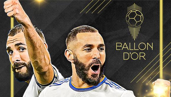 Karim Benzema es uno de los 30 finalistas al Balón de Oro 2021. (Real Madrid Twitter)