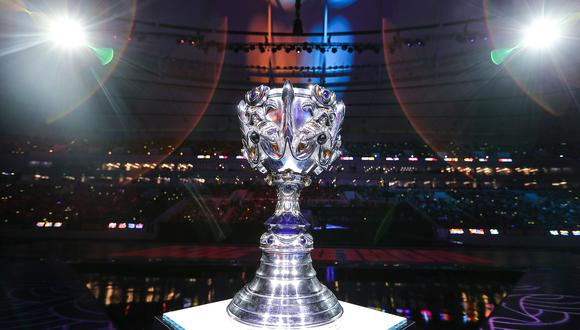 Este es el trofeo del Mundial de League of Legends. (Imagen: Lol Esports / Twitter)