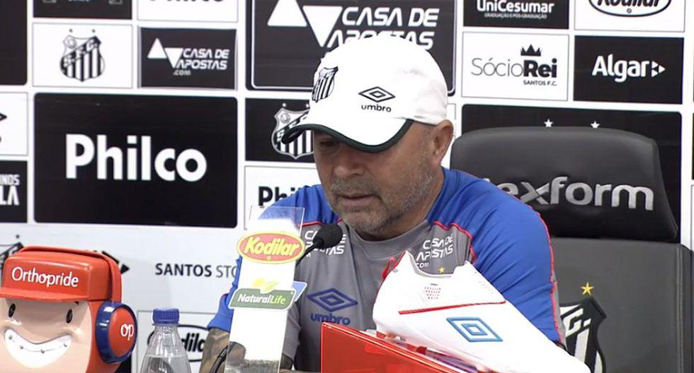 Jorge Samapaoli llegó a Santos a mediados del 2018. (Globoesporte)
