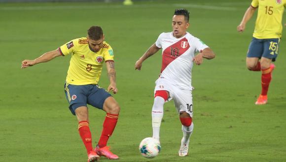 Perú y Colombia juegan en el Nacional. (Foto: Violeta Ayasta / GEC)