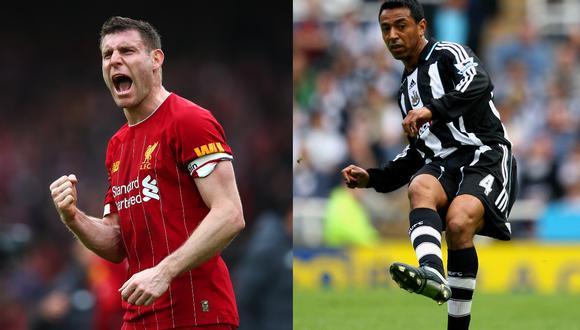 James Milner y Nolberto Solano compartieron equipo en Newcastle durante 2006 y 2008.