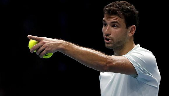Grigor Dimitrov venció por 6-0 y 6-2 a David Goffin. (AFP)