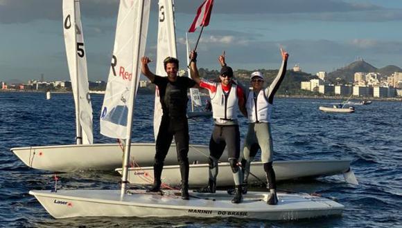 Stefano Peschiera se coronó bicampeón en campeonato sudamericano de vela en Brasil. (Difusión)