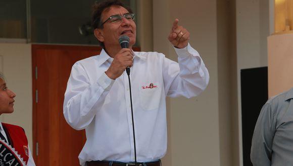 """""""Hay interés porque todos sabemos que el equipo Binacional ha campeonado en el descentralizado y va a representar en la Copa Libertadores al Perú"""", dijo Martín Vizcarra. (Foto: GEC)"""