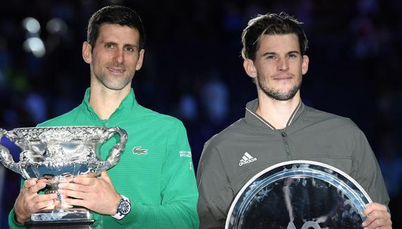 """Dominic Thiem: """"Djokovic tiene gran oportunidad de ganar el Golden Slam y probablemente no vaya a tener otra"""". (Foto: AFP)"""