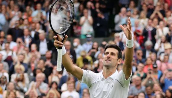 Djokovic venció al chileno Garín y accedió a los cuartos de final de Wimbledon 2021. (ATP)