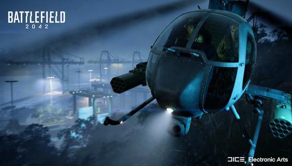 Battlefield 2042: ¿qué pasa si metemos un helicóptero a un tornado? (Foto: EA)