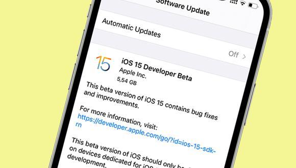 De esta manera podrás obtener la beta de iOS 15 en tu iPhone. (Foto: Apple)