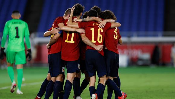 España cayó en la final de Tokio 2020 frente a Brasil por 2 a 1. (Foto: EFE)