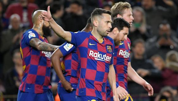 Jordi Alba se perdió los últimos dos encuentros por lesión. (Foto: AFP).