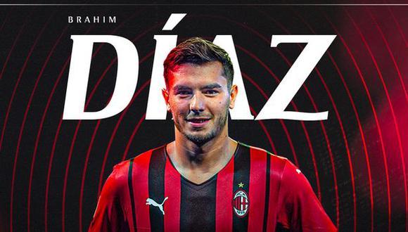 Brahim Díaz estará unido a AC Milan hasta el 30 de junio del 2023. (Foto: AC Milan)