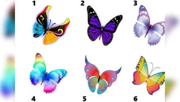 Cada mariposa representa una característica distinta de tu personalidad que no conoces. Los resultados de este test viral te sorprenderán
