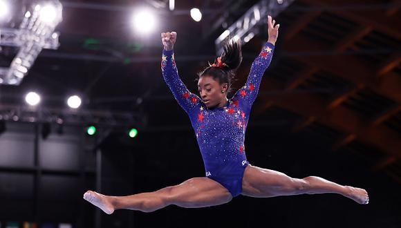 Simone Biles recibió el respaldo de Michael Phelps.  (Getty Images)