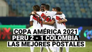 Copa América 2021: Las mejores postales de la victoria de Perú por 2-1 ante Colombia