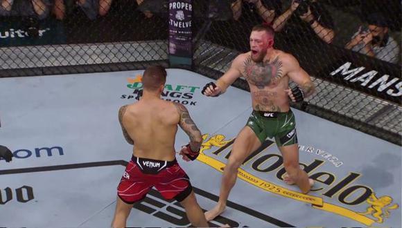 Conor McGregor dijo desde Las Vegas que espera una cuarta pelea ante Dustin Poirier.