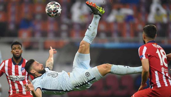 Oliver Giroud anotó el gol de la victoria del Chelsea ante Atlético de Madrid por el duelo de ida de los octavos de final de la Champions League. (Foto: Shutterstock)