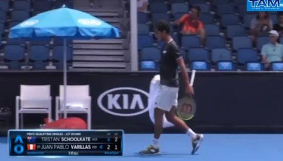 Esta es la primera vez que Juan Pablo Varillas compite en un Grand Slam. (Foto y video: Australian Open 2020)