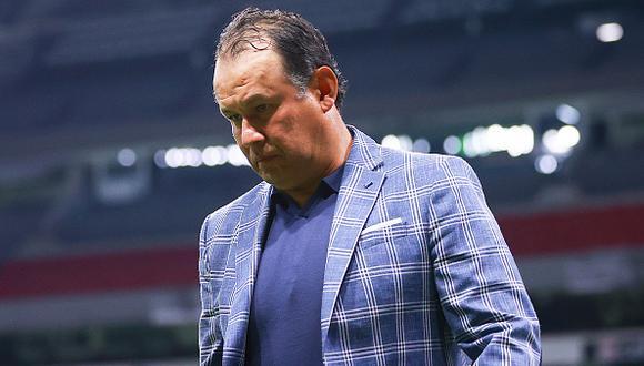 Juan Reynoso se fue expulsado en el último partido de Cruz Azul por la Liga MX 2021 (Foto: Getty Images)