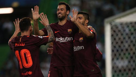 Luis Suárez llegó al FC Barcelona en 2014 desde el Liverpool. (Getty)
