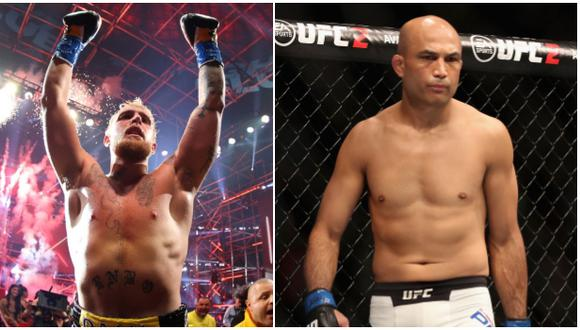 Leyenda de UFC interesado en pelear contra youtuber Jake Paul. (Difusión)