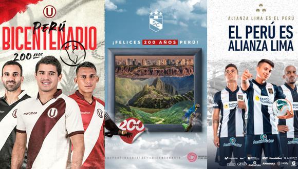 Los saludos de los tres grandes por el Bicentenario de Perú (Foto: Facebook)