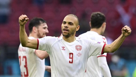 Martin Braithwaite es una de las figuras de Dinamarca en la Eurocopa 2021. (Foto: Reuters)