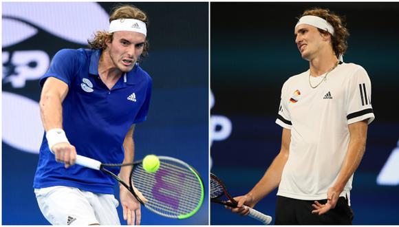 Stefanos Tsitsipas está en el sexto puesto del ranking de la ATP;  Alexander Zverev, en la séptima casilla. (Getty Images)