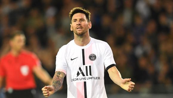 Lionel Messi debutó como titular en el empate del PSG ante el Brujas por la Champions League. (Foto: AFP).