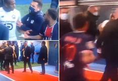 Neymar vio la roja y continuó el caliente cruce con su rival en los vestuarios [VIDEO]