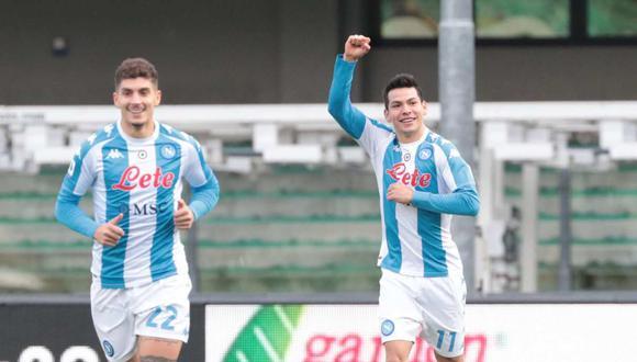 El gol de Hirving Lozano ingresó en la historia de la Serie A. (Foto: EFE)