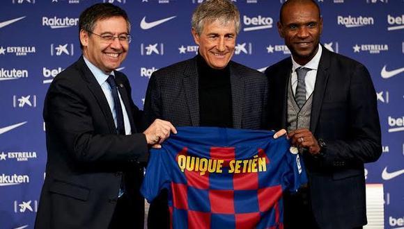 Setién reemplazó a Valverde en el banquillo del Barcelona. (AFP)