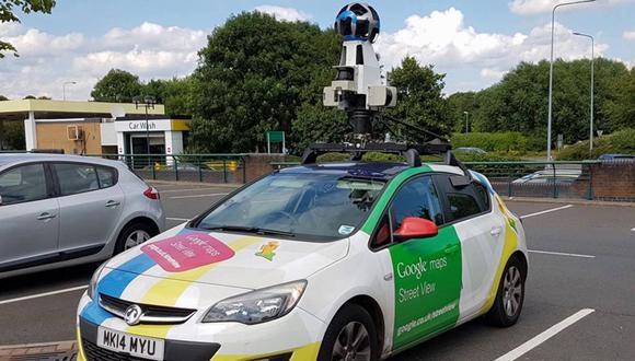 Esta fue la insólita reacción de un hombre al ver pasar el auto de Google Maps.