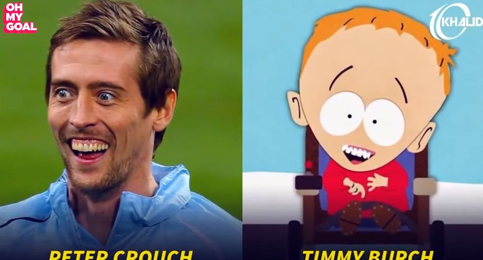Peter Crouch. (Foto/Captura: YouTube)